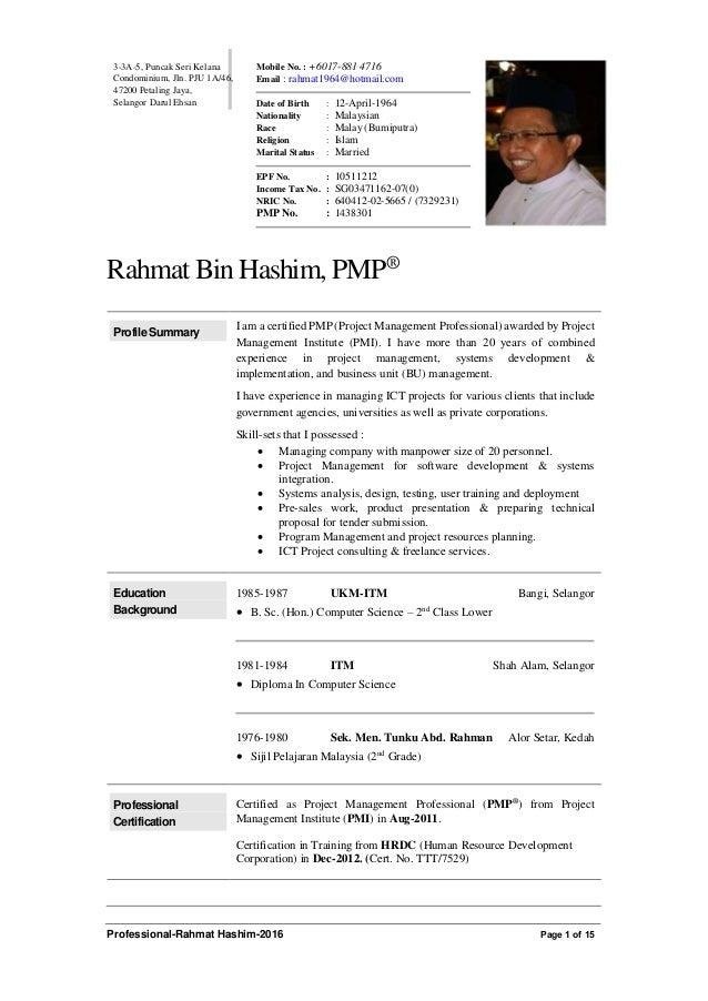 Professional Rahmat Hashim 2016