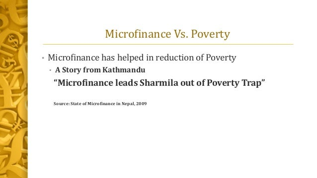 effect of microfinance bank on poverty reduction in nigeria Impact of microfinance banks on poverty alleviation in selected  microfinance bank, poverty, living standard, nigeria  examine the impact of microfinance bank .