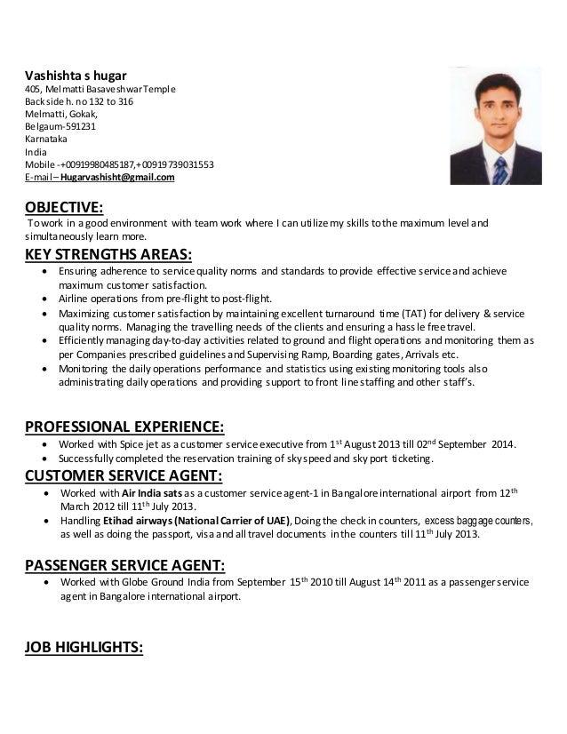 resume for passenger service resume ideas
