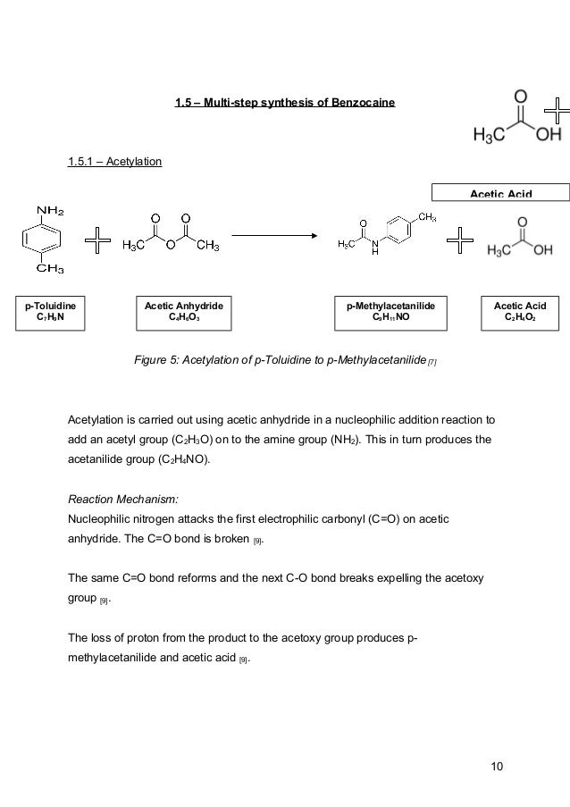 benzocaine synthesis mechanism Benzocaine synthesis via fischer esterification xiang yu march 24th, 2012introduction synthesis of esters has played a significant role .