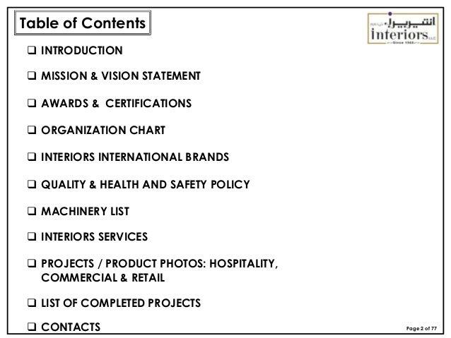 Interiors Company Profile Slide 2