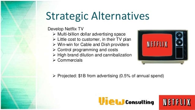 """netflix strategic alternatives It is also at the core of netflix's stated strategy of """"becoming hbo faster  value  per hour than all competing video entertainment alternatives."""
