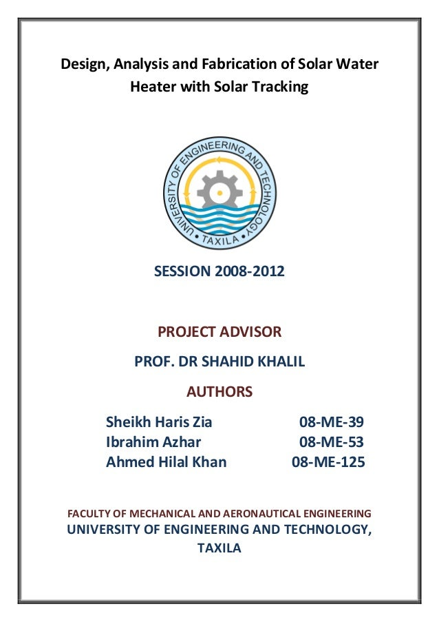 Final Year Project 2012 Report
