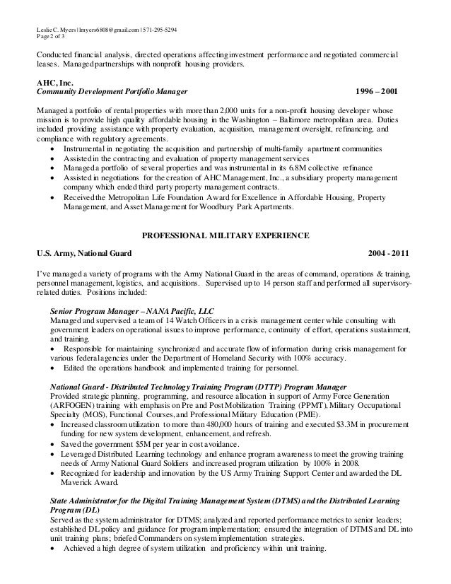 2 - Real Estate Resume