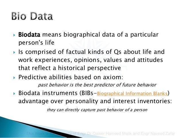 biodata of a person