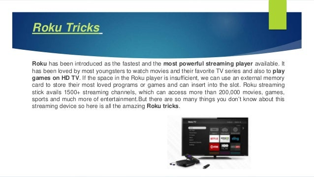 Roku Tricks-Must Try for streaming success (Roku user manual
