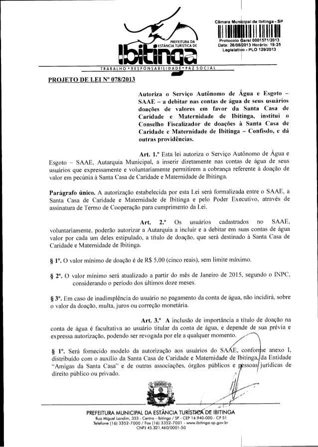 Projeto Lei SAAE