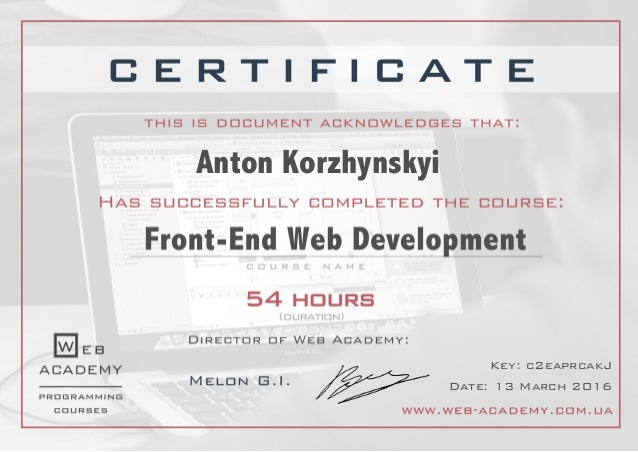 Group1601] HTMLCSS + JS (Front-end Web Development)_Certificate for …