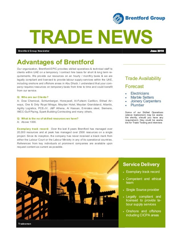 Trade Availability Forecast  Electricians  Marble Setters  Joinery Carpenters  Plumber Some of our Skilled Operatives ...