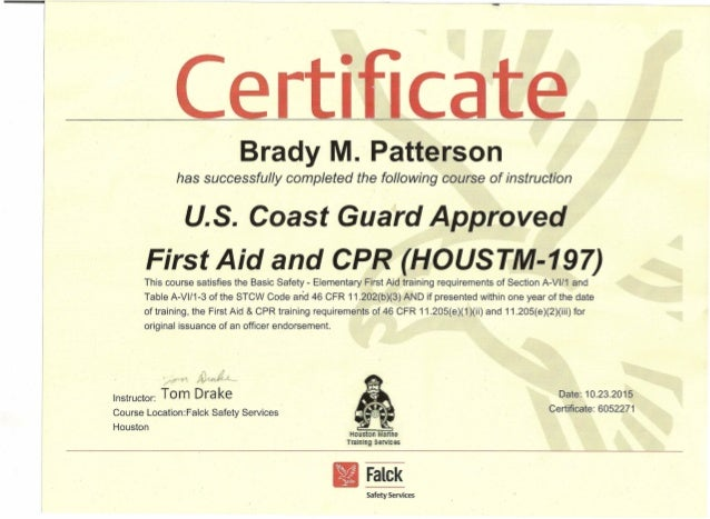 First Aid & CPR 23-Oct.-15