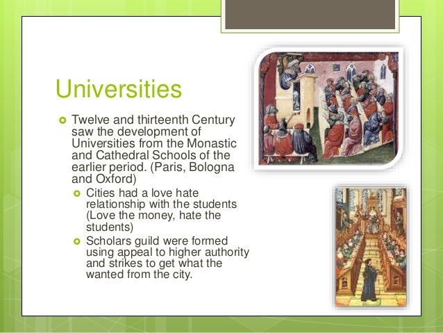 emergence of higher education sprouted in europes middle ages The renaissance of the 12th century was a period of many changes signature on higher education stanley (1976), europe in the middle ages (3 ed.