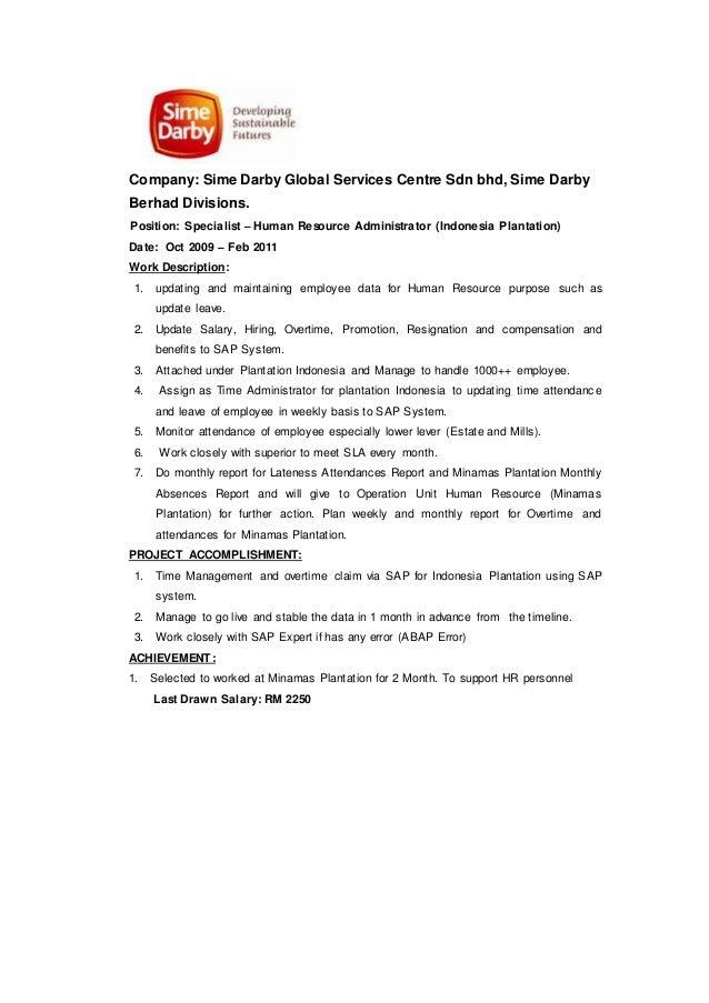 Hr report on samy darby company