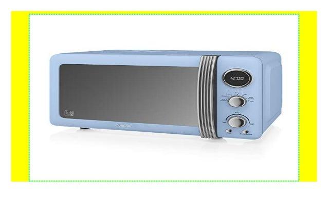 Swan Retro Digitale Mikrowelle 20 L 800 W Mikrowelle Blau