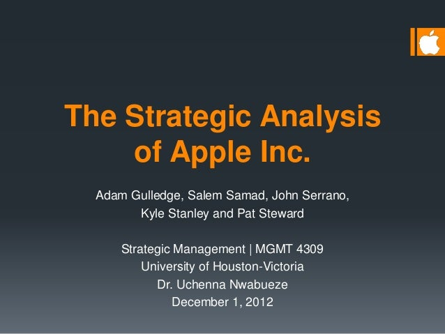 apple inc an analysis The following is a guest post by dara alami, demonstrating an industry and company analysis of apple.