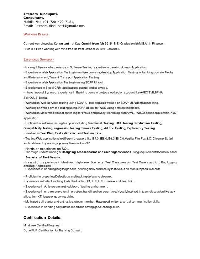 web application testing resumes