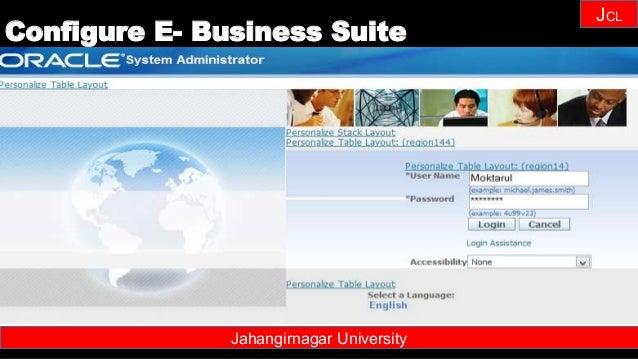 Janhangirnagar University JCL Jahangirnagar University Configure E- Business Suite