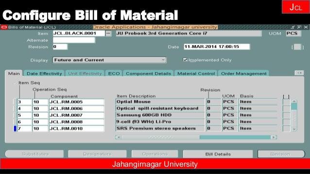 Janhangirnagar University JCL Jahangirnagar University Configure Bill of Material