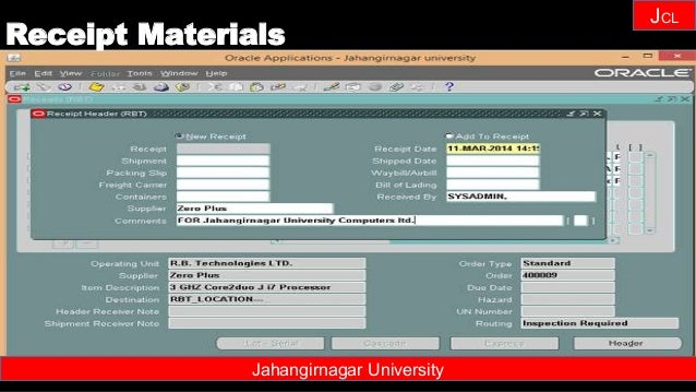 Janhangirnagar University JCL Jahangirnagar University Receipt Materials