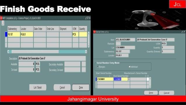 Janhangirnagar University JCL Jahangirnagar University Finish Goods Receive