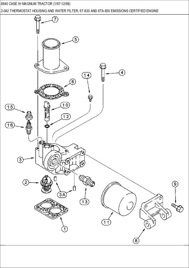 case engine parts diagram wiring diagram Lister Petter Engine Parts Diagram 8940 case ih magnum tractor parts catalogthermostat housing; 50 8940 case