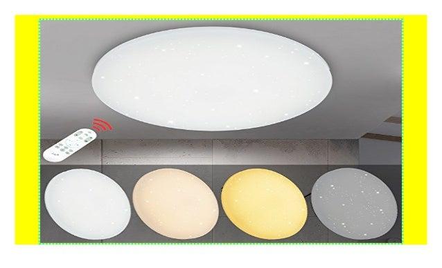 Vingo 50w Led Deckenleuchte Dimmbar Sternenhimmel Rund Deckenlampe