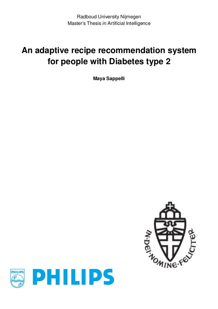 Radboud University Nijmegen          Master's Thesis in Artificial IntelligenceAn adaptive recipe recommendation system    ...