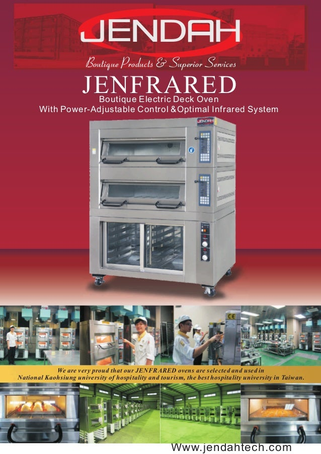 JENFRARED Boutique Electric Deck Oven Catalog