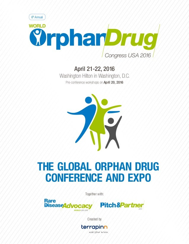 World Orphan Drug Congress Usa  A  Page Brochure  Sc