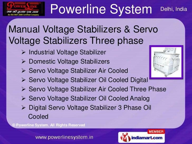 Voltage Stabilizers By Powerline System Delhi