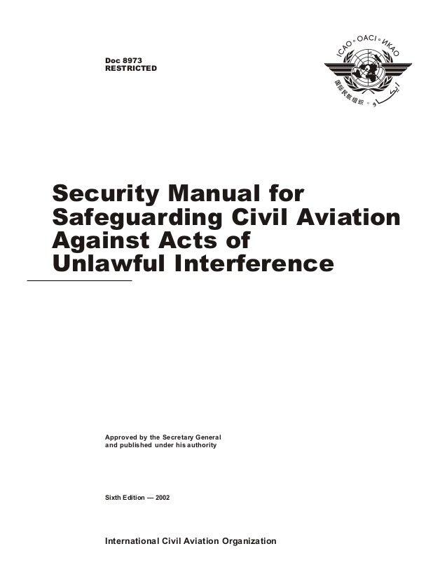 ICAO SECURITY MANUAL DOC 8973 PDF
