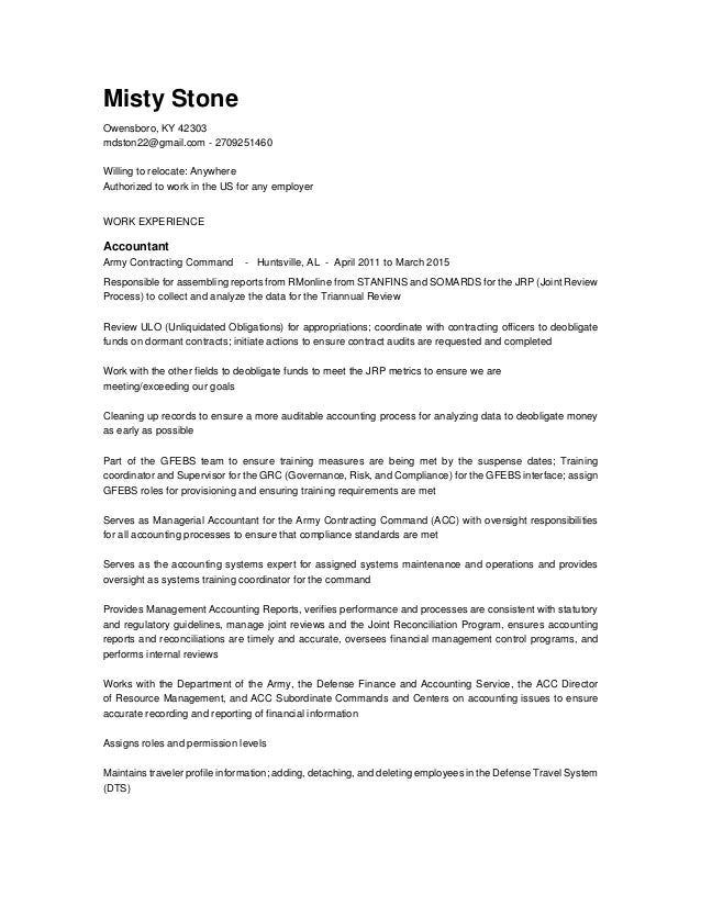 Misty-Stone Resume