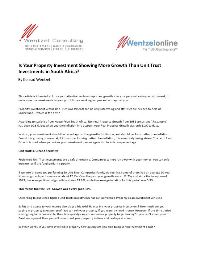 7 Tips 2 Property Versus Unit Trusts