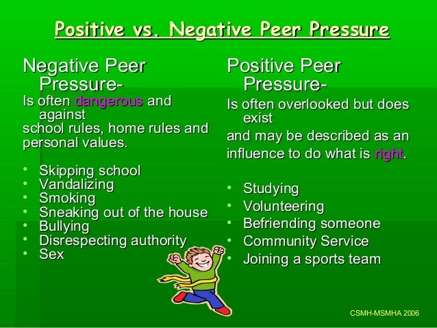 positive effect of peer pressure