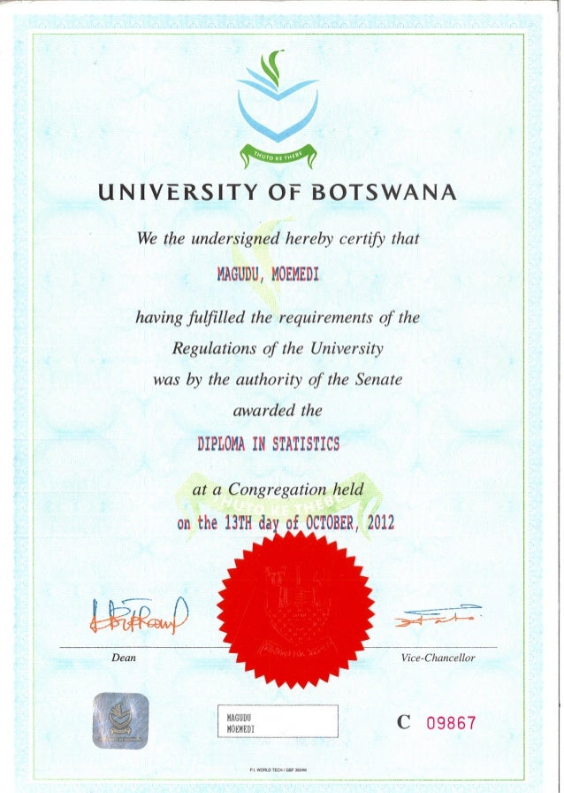 diploma statistics certificate slideshare upcoming