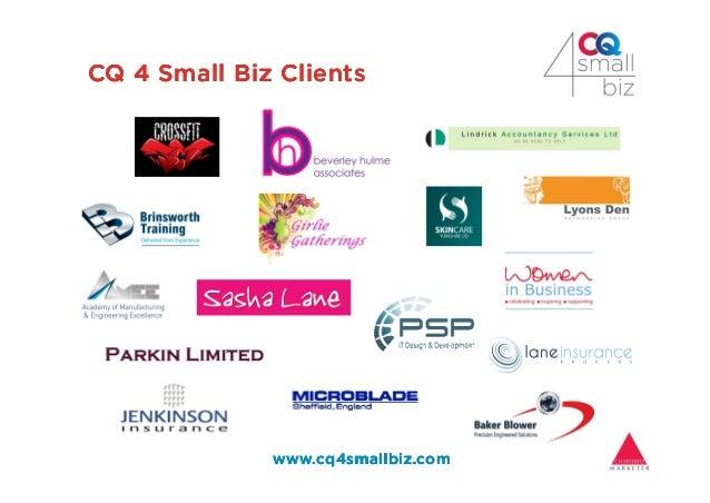 2016-Jan CQ 4 Small Biz How to reach your target market Slide 3