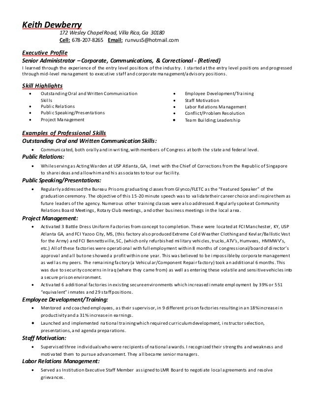 resume with education  training  and references