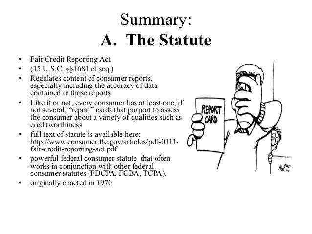 the fair credit reporting act 1970 Aid 500-4 (fair credit reporting act of 1970, as amended) aid 500-4 (fair credit reporting act of 1970, as amended.