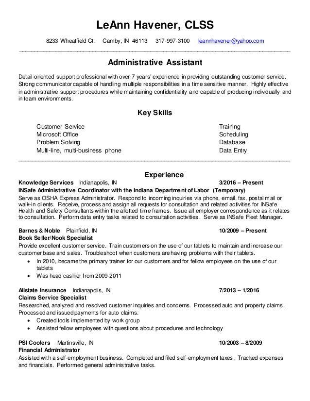Leann Havener Resume 2016 3 2