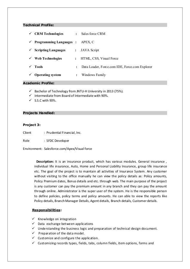 idq developer resume