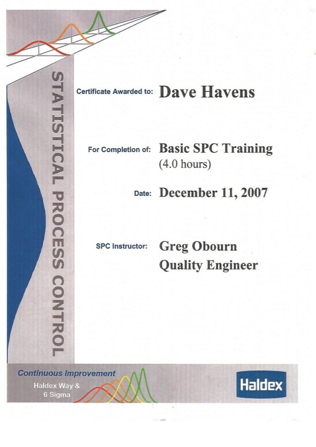 Basic Spc Certification