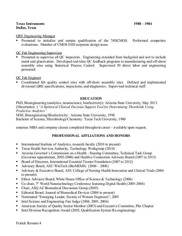 fralick resume 3 4 - Grace Hopper Resume Database