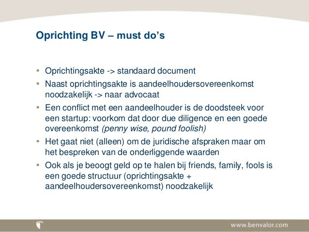 Legal issues voor startups.17-11-2014