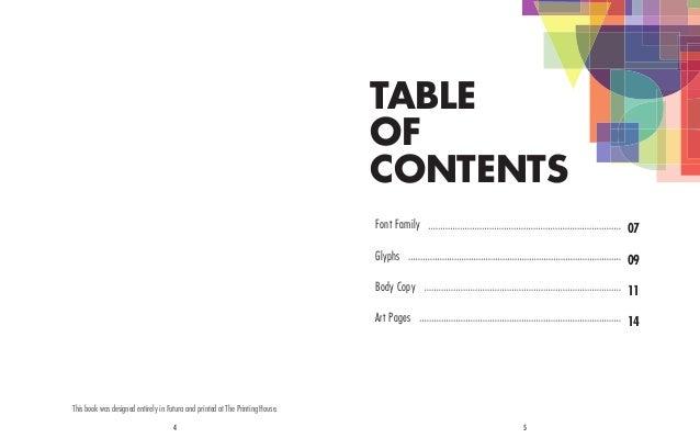 Futura Type Specimen_LeighCavanaugh