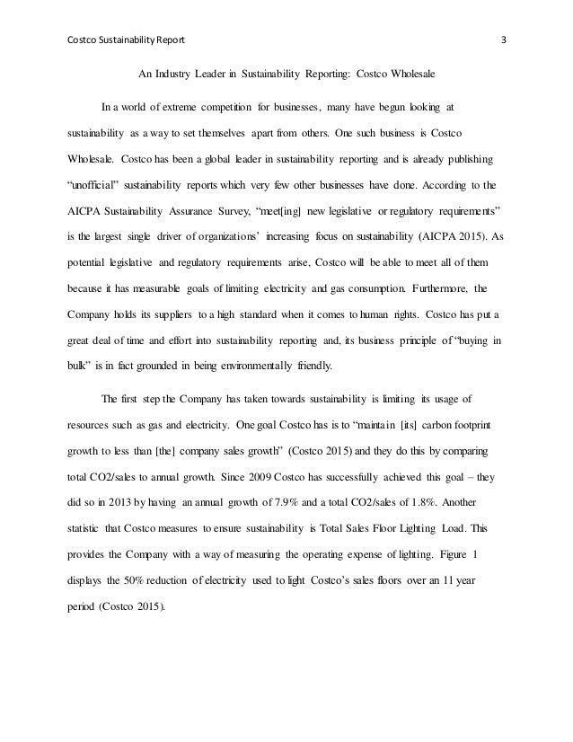 sustainability essay on costco 3 costco sustainability