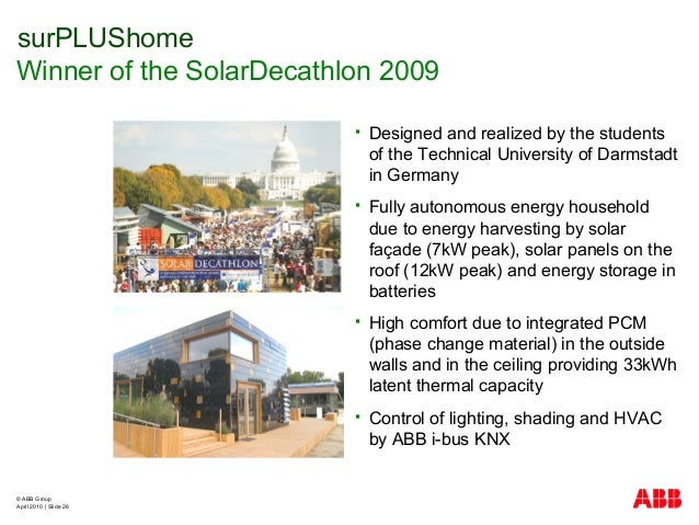 © ABB Group April 2010   Slide 26  Designed and realized by the students of the Technical University of Darmstadt in Germ...