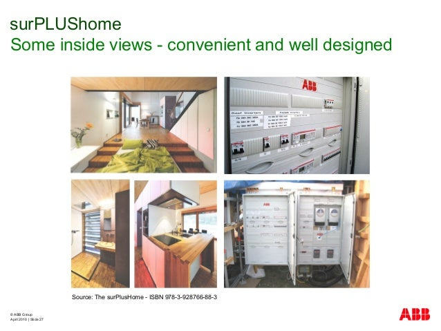 © ABB Group April 2010   Slide 27 surPLUShome Some inside views - convenient and well designed Source: The surPlusHome - I...