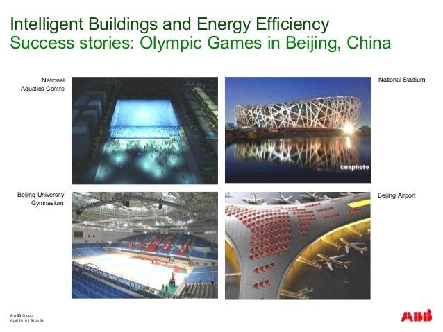 © ABB Group April 2010   Slide 34 National StadiumNational Aquatics Centre Beijing University Gymnasium Beijing Airport In...