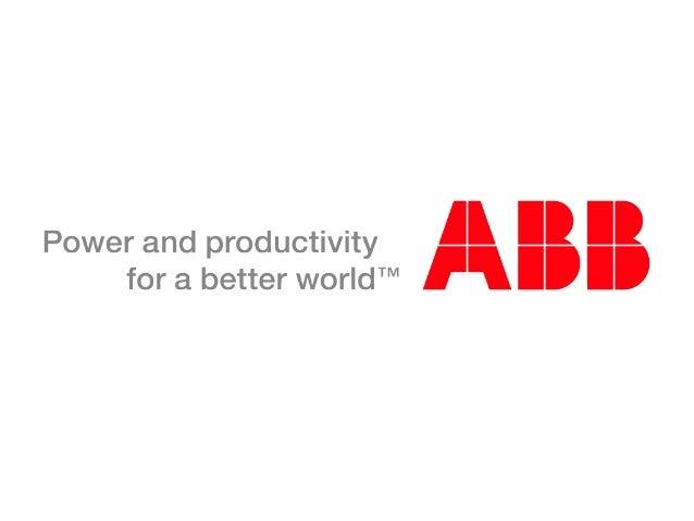 © ABB Group April 2010   Slide 38