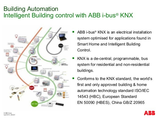 © ABB Group April 2010   Slide 8  ABB i-bus® KNX is an electrical installation system optimised for applications found in...