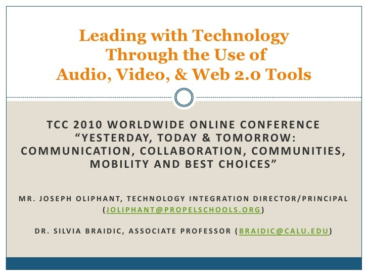 """TCC 2010 Worldwide Online Conference """"Yesterday, Today & Tomorrow:  Communication, Collaboration, Communities, Mobility an..."""
